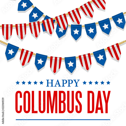 columbus day vector background usa patriotic template with text