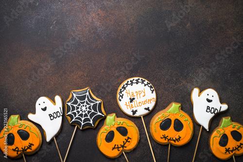 Ingelijste posters Halloween Halloween Gingerbread Cookies
