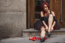 Street Ballet Redhead Dancer