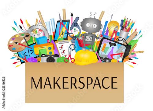 Fototapeta Makerspace- STEAM Education
