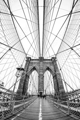 Fotobehang Brooklyn Bridge brooklyn bridge in new york