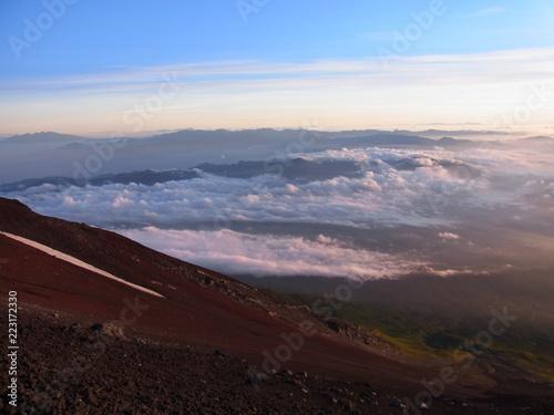 Poster Chocoladebruin Mt. Fuji climbing