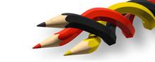 3 Buntstifte- Schwarz Rot Gold