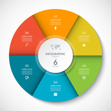 Vector Infographic Circle. Cyc...