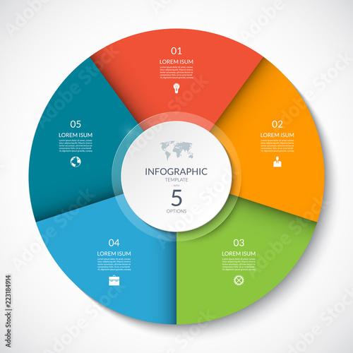 Cuadros en Lienzo Vector infographic circle