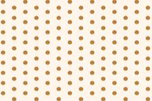 Golden Round Dotted Background
