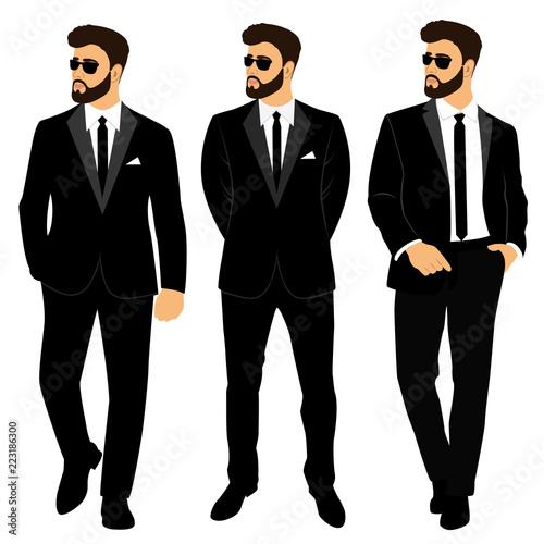 Wedding men's suit and tuxedo. Collection. The groom. Billede på lærred