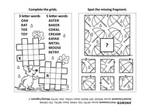 Activity Page With Two Puzzles...