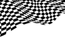 Checkered Flag Wave Monochrome...