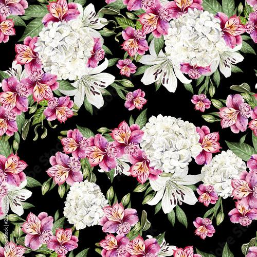 piekny-wzor-akwarela-z-kwiatami-alstremerii-hudrange-i-lilii