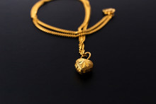 Gold Jewelry Ring And Necklace