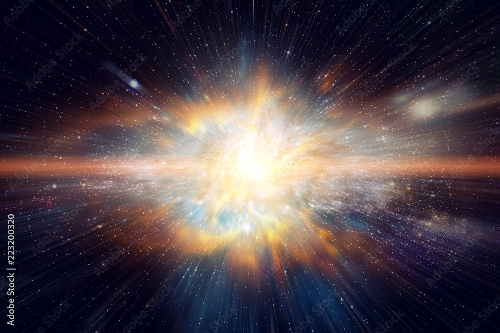 Fototapety, obrazy: Space and Galaxy light speed travel. Elements of this image furnished by NASA.