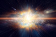 canvas print picture - Space and Galaxy light speed travel. Elements of this image furnished by NASA.