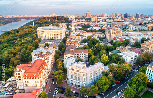 In de dag Centraal Europa Aerial view of the historic centre of Kiev, Ukraine