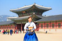 Beautiful Korean Woman Dressed...