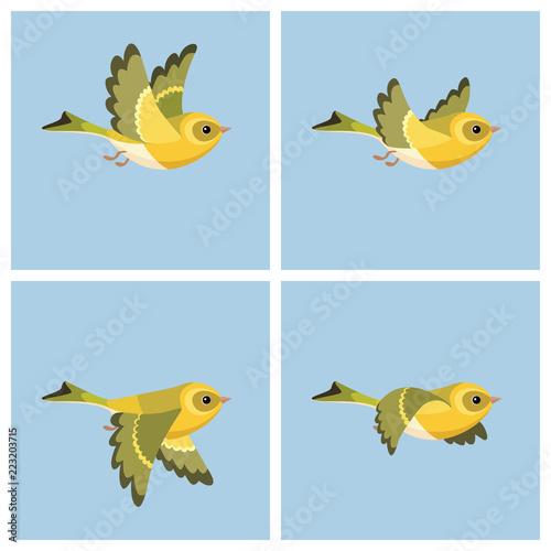 Photo Flying European Siskin (female) animation sprite sheet