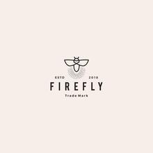 Firefly Logo Hipster Retro Vin...