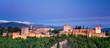 Night view on Alhambra, Granada