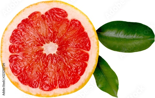 Half of a grapefruit