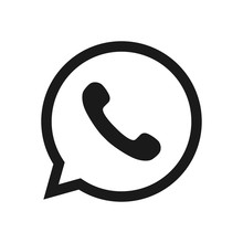 Phone Icon. Black Button In The Smart Phone. Black Button Icon Vector.