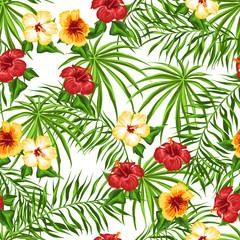 Panel Szklany Egzotyczne Tropical seamless pattern.