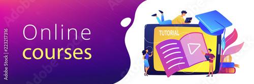 Fotografie, Obraz  Video tutorial header banner.