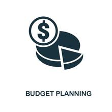 Budget Planning Icon. Monochro...