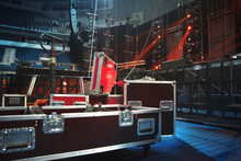 Preparing The Stage For A Concert