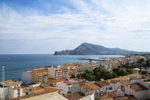 Panoramic view of Altea village from the viewpoint
