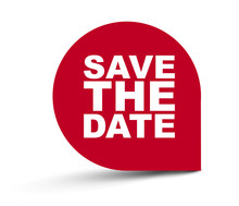 Red Vector Banner Save The Date