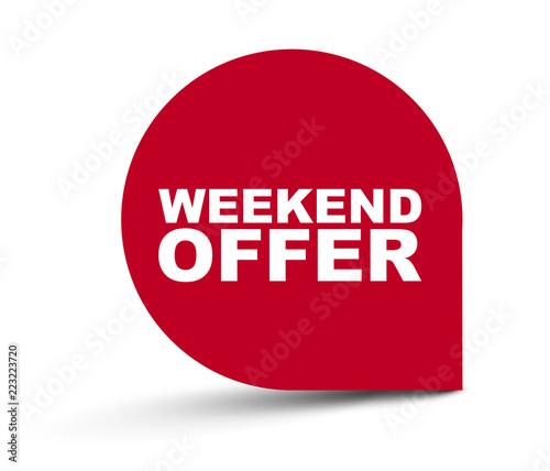 Fotografía  red vector banner weekend offer