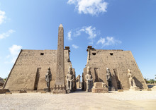 Entrance To Luxor Temple, A Large Ancient Egyptian Temple Complex Located On The East Bank Of The Nile River In The City Today Known As Luxor (ancient Thebes). Was Consecrated To The God Amon-Ra
