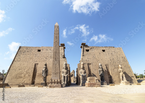 Wall Murals Place of worship Entrance to Luxor Temple, a large Ancient Egyptian temple complex located on the east bank of the Nile River in the city today known as Luxor (ancient Thebes). Was consecrated to the god Amon-Ra