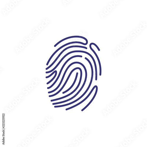 Fingerprint icon  Evidence, identity, detection  Justice