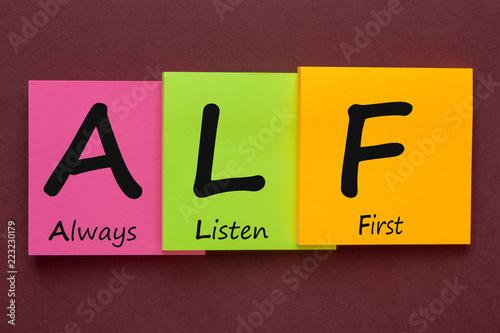 Fotografie, Obraz  Always Listen First
