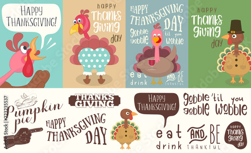 Obraz na plátne  Thanksgiving Day poster