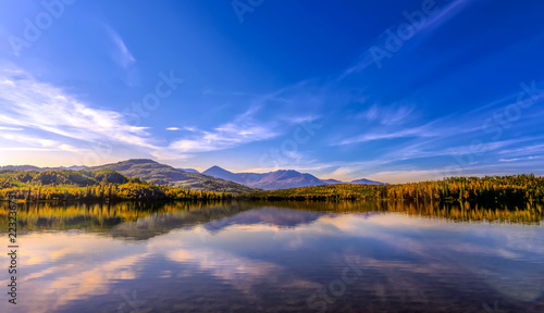 Canvas Prints Reflection Sunset on Skilak lake in Alaska during Autumn