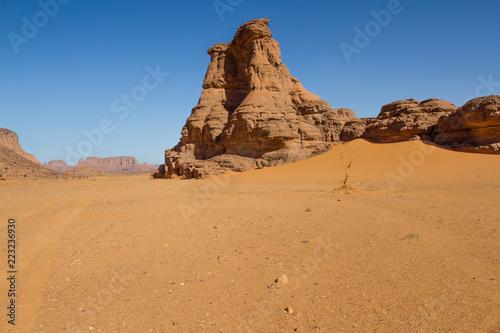 Staande foto Afrika Amazing rock formation in Tadrart Rouge. Tassili n'Ajjer National Park, Algeria