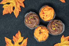 Maple Leaves And Halloween Cup...