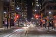 Night view of the street of Toronto