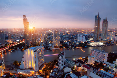 Photo Stands Bangkok Cityscape Bangkok city Asia Thailand Skyline