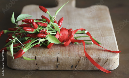 Tuinposter Hot chili peppers peperoncino