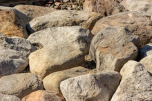 Large Rock Natural Building Material Retaining Barrier