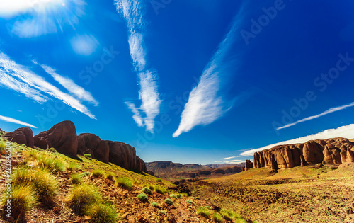 Mountain landscape in the Mountains of Jbel Sarhro in Morocco