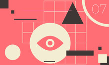 Minimal Geometric Web Banner Design Vector Template