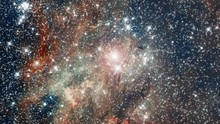 Travel To Tarantula Nebula Also Know 30 Doradus Star Nursery In Outer Space With Infinite  Flying Star Field And Flare Light. Contains Public Domain Image By NASA