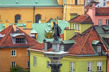 Panel Szklany Architektura King Sigismunds Column in Warsaw city, Poland