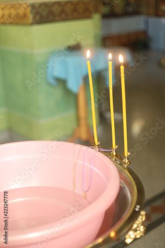 Tablou Canvas crosses for baptism. baptismal tradition