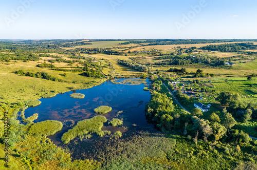 Deurstickers Asia land Aerial landscape of Russian Chernozemye. Provotorova village, Kursk region