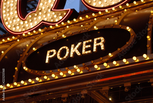 фотография  Poker sign - downtown Las Vegas